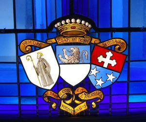 Centre Medical de l'Argentière - Blasons du Prieuré, du Chapître Noble et du Séminaire